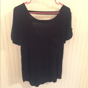 Short Sleeve Tee with Back Detail